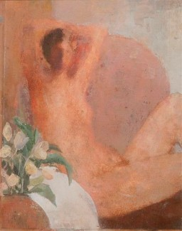 David Brayne - Seated Nude 30 x 24 cm