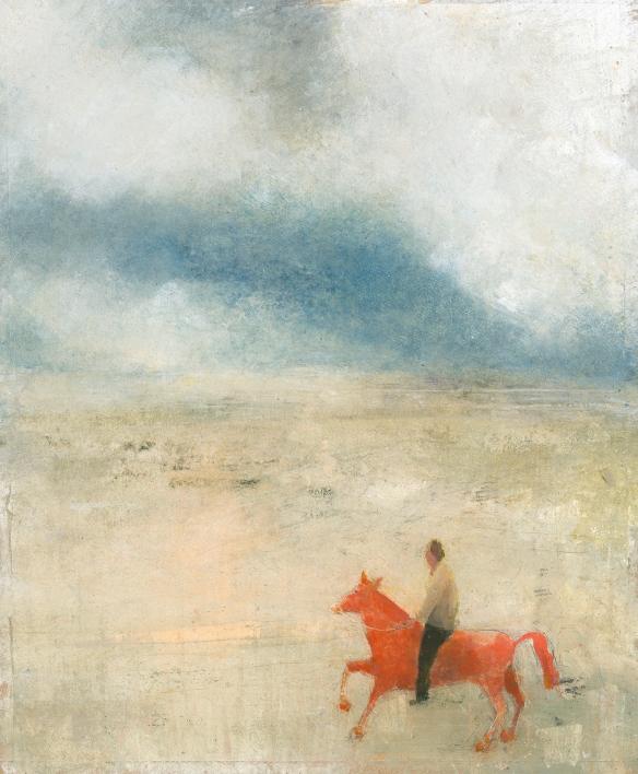 red horse 50 x 62 cm